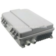 FTTH caja de distribución de fibra, 24 núcleos impermeable al aire libre caja de terminales de fibra óptica