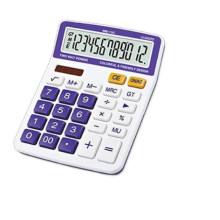 12 digits double display check function desktop calculator