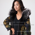 Lady Fur Overcoat en invierno