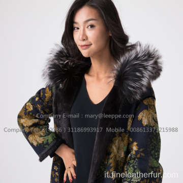 Lady Fur Overcoat In Winter
