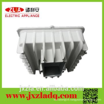 Professional square aluminum die casting radiator, aluminum enclosure heat sink