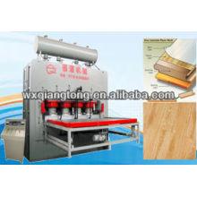 Ciclo curto 122 * 244cm mdf imprensa quente melamina / máquina de impressão de laminação de placa de chip