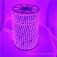 110-120В / 220В переменного тока 5050 3000k теплый белый плоский гибкий 5050 120 светодиодов/м RGB светодиодные полосы