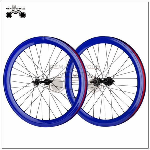 700C 40mm fix double-walled aluminum wheelset3