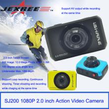 JEXREE SJ200 caméra de casque de sport HDD étanche complet HDD 1080p mini caméscope