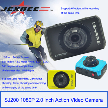 JEXREE SJ200 wasserdichte volle hd 1080p Sport-Sturzhelm Kamera Mini-Camcorder