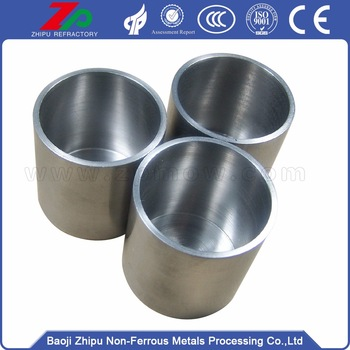 High temperature tungsten crucibles for melting