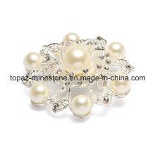 Newest Pearl Crystal Wedding Rhinestone Crystal Brooch for Ladies (TB-039)
