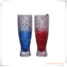 Tasse givrée à double paroi Tasse à bière glacée glacée pour cadeaux promotionnels (HA09078-3)