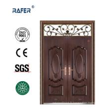Porte en acier couleur cuivre à double feuille (RA-S177)