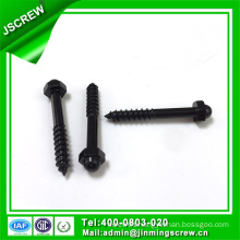1/4*45 Black Color Hex Cap Self Tapping Wood Screw