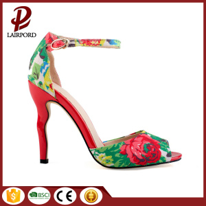 african fabric with embroidery sweet ladies shoes