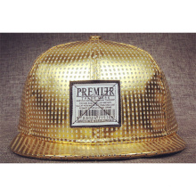 Gold Customized Snapback Flat Brim Hats