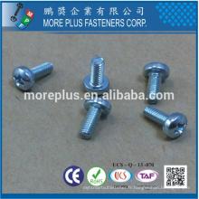 Fabricant à Taiwan Acier au carbone Pozi Pan Head M2.5X6 Vis à la machine galvanisée