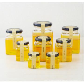 OEM Venta al por mayor Cuboid vidrio Jar Jam Tarros de miel con tapa 50ml 80ml 100ml 200ml 280ml 380ml 500ml 730ml