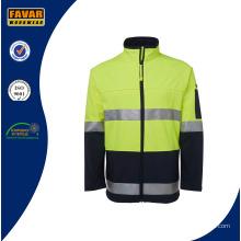 Hi Vis Reflective Safety Softshell Jacket Workwear