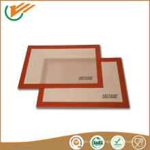 OEM custom size, thick and printing food grade silicone coating baking mats and pads
