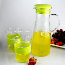 1 Liter Clear Glass Drinking Cold Or Hot Water Pitcher With Lid
