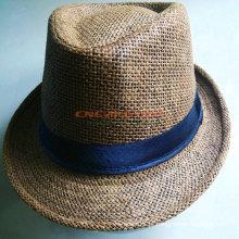Custom Design Men's Hat Fedora com logotipo impresso para a promoção