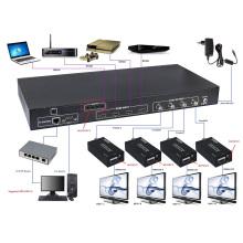 Conmutador de 100m 4X4 HDMI a conmutador de matriz coaxial Control IR (RS-232, TCP / IP, EDID)