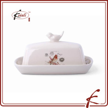 Деколь узор каменное изделие масло блюдо Птица на крышке декоративное