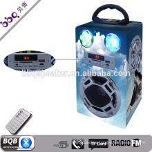 Newset Flashing LED speaker Bluetooth usb card portable colorful active pa speaker