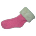 Plumy Ruffed Floor Socks
