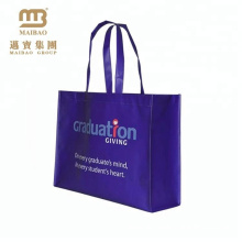Reusable eco-friendly pp non woven foldable bags with tote for shopping custom made in big factory