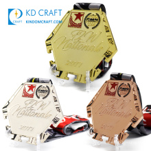 High quality design your own metal europe sports competition medallas 1st place 2nd place 3rd place award medals custom medal
