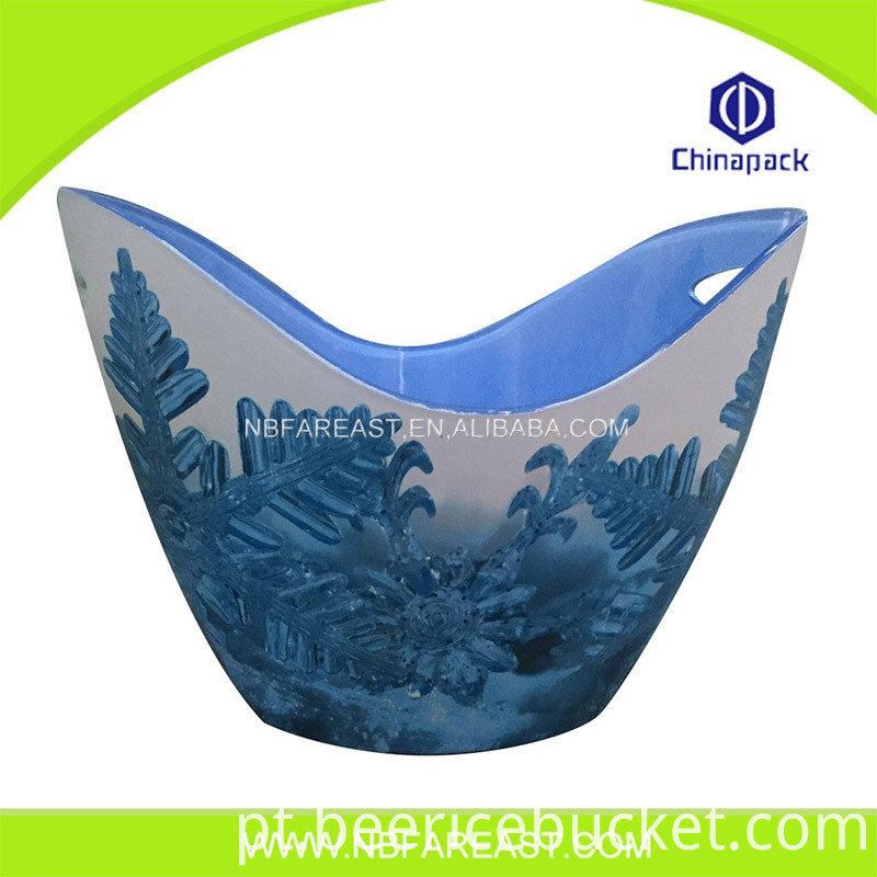 Independent design plastic ice bucket