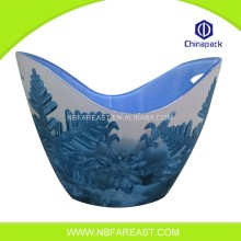 Factory logo printed plastic ice bucket