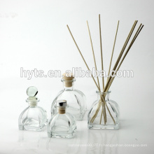 50ml 100ml 150ml bouteille de verre de diffuseur de roseau