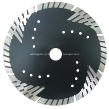 Lâmina de diamante turbo contínua com proteção especial contra raios