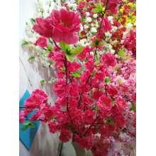 Flor de pêssego com seda decorada