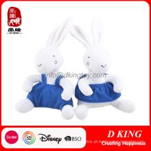 Brinquedos feitos sob encomenda enchidos Nivea do luxuoso do coelho do luxuoso