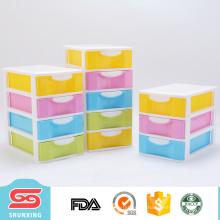 hermosos y coloridos mini cajones de almacenamiento para pequeños artículos de almacenamiento