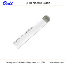3D Eyebrow Tattoo Needle Microblades 18 U-Shaped