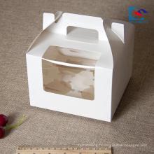 Boîtes de gâteaux d'anniversaire individuels de qualité alimentaire personnalisés avec poignée