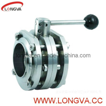 Food Grade Flange 3PCS Butterfly Valve