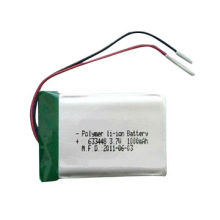 3.7V 1000mAh Li-Polymer Battery Cell 633448, Customer Designed Battery Size, PCM and Connector