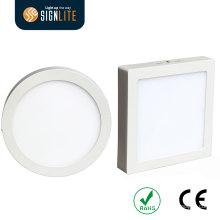 Quadrado da instalação da montagem de superfície ou luz de painel conduzida redonda do diodo emissor de luz Downlight / LED de 6W / 12W / 18W / 24W