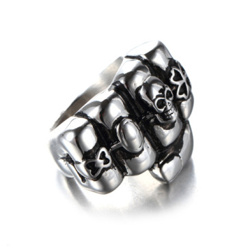 US hot sale Locomotive boyfriend fist skull ring