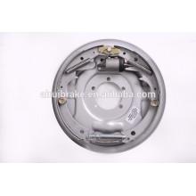 Freio de tambor hidráulico freio de tambor hidráulico de 12 polegadas para reboque de campista (tratamento de superfície de placa traseira: Dacromet)