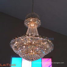 Luxury crystal pendant lamp church chandelier handing lighting 60009