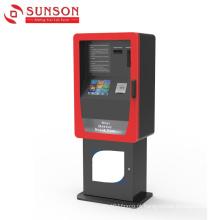 Quiosque do distribuidor do cartão do auto pagamento para o cartão de banco