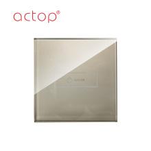 Interrupteur intelligent de rideau en écran tactile de mur d'hôtel moderne de contrôle de taille de 86x86