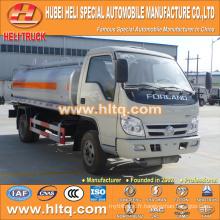 FOTON 4x2 4CBM camion citerne en acier inoxydable à vendre, usine de fabrication en Chine