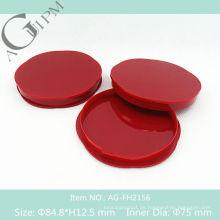 Leeren Sie besondere Form kompakte Pulver Fall/Compact Powder Container AG-FH2156, AGPM Kosmetikverpackungen, benutzerdefinierte Farben/Logo