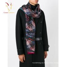 Bufanda de lana de diseño más reciente, Bufanda de Infinity al por mayor, Bufanda 100% de cachemira de impresión