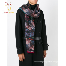 Latest Design Wool Scarf,Wholesale Infinity Scarf ,Print 100% Cashmere Scarf